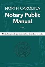 NC Notary Public Manual 2016