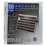 Print File 100060 Archival 35mm Negative Pages, 100