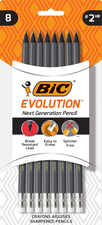 #2 Pencils 8 Pack-Bic Evolution Next Gen Pencils