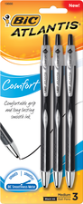 Black Ink 3 Pack Bic Atlantis Click Pens